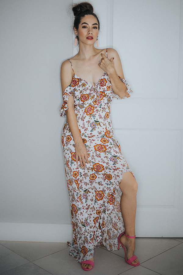 Image for BROOKLYN- IVORY/FLORAL DRESS