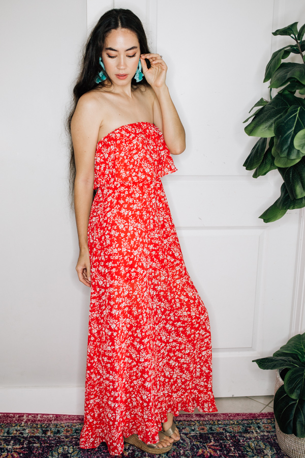 Image for TORIE - STRAPLESS DRESS