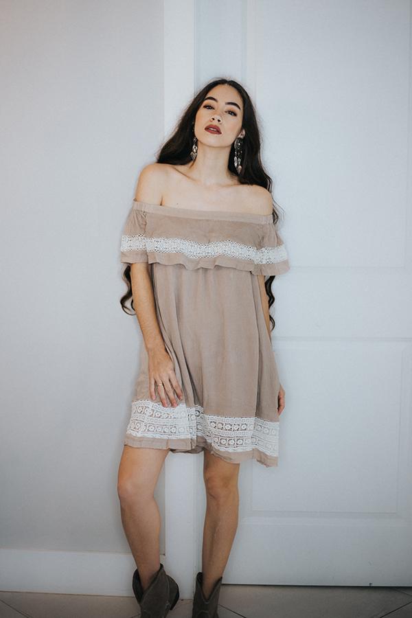 Image for GRACE- OFF SHOULDER DRESS WITH POCKETS