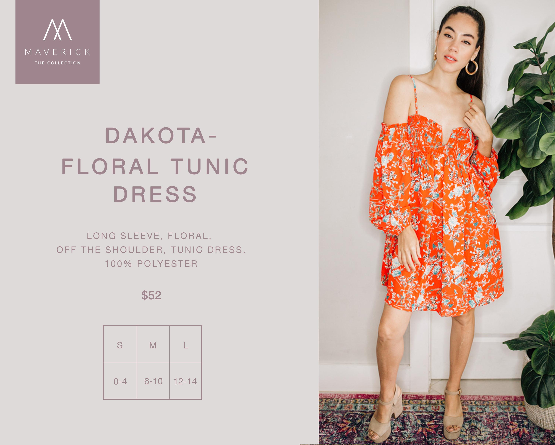 Image for DAKOTA - FLORAL TUNIC DRESS