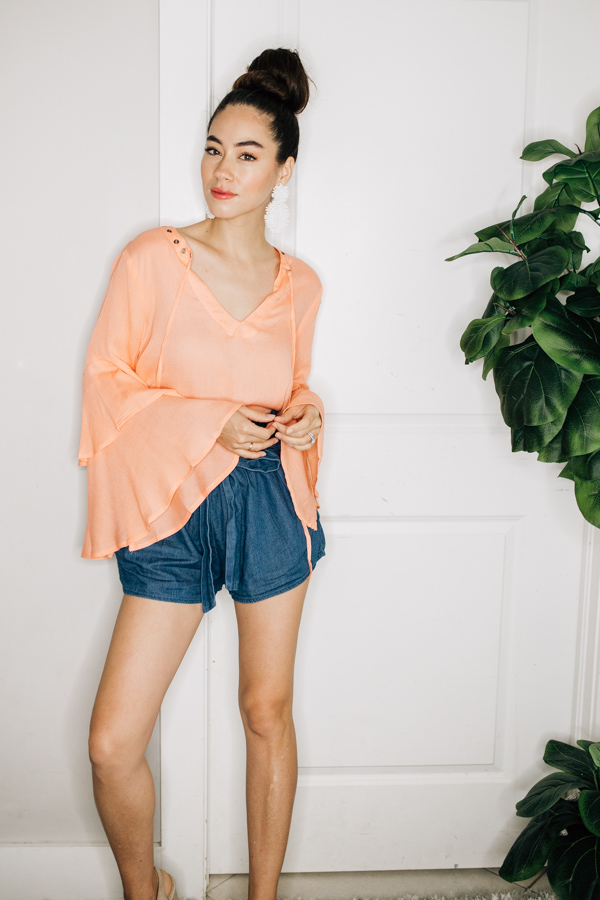 Image for LUPE - PEACH, FLOWY TOP