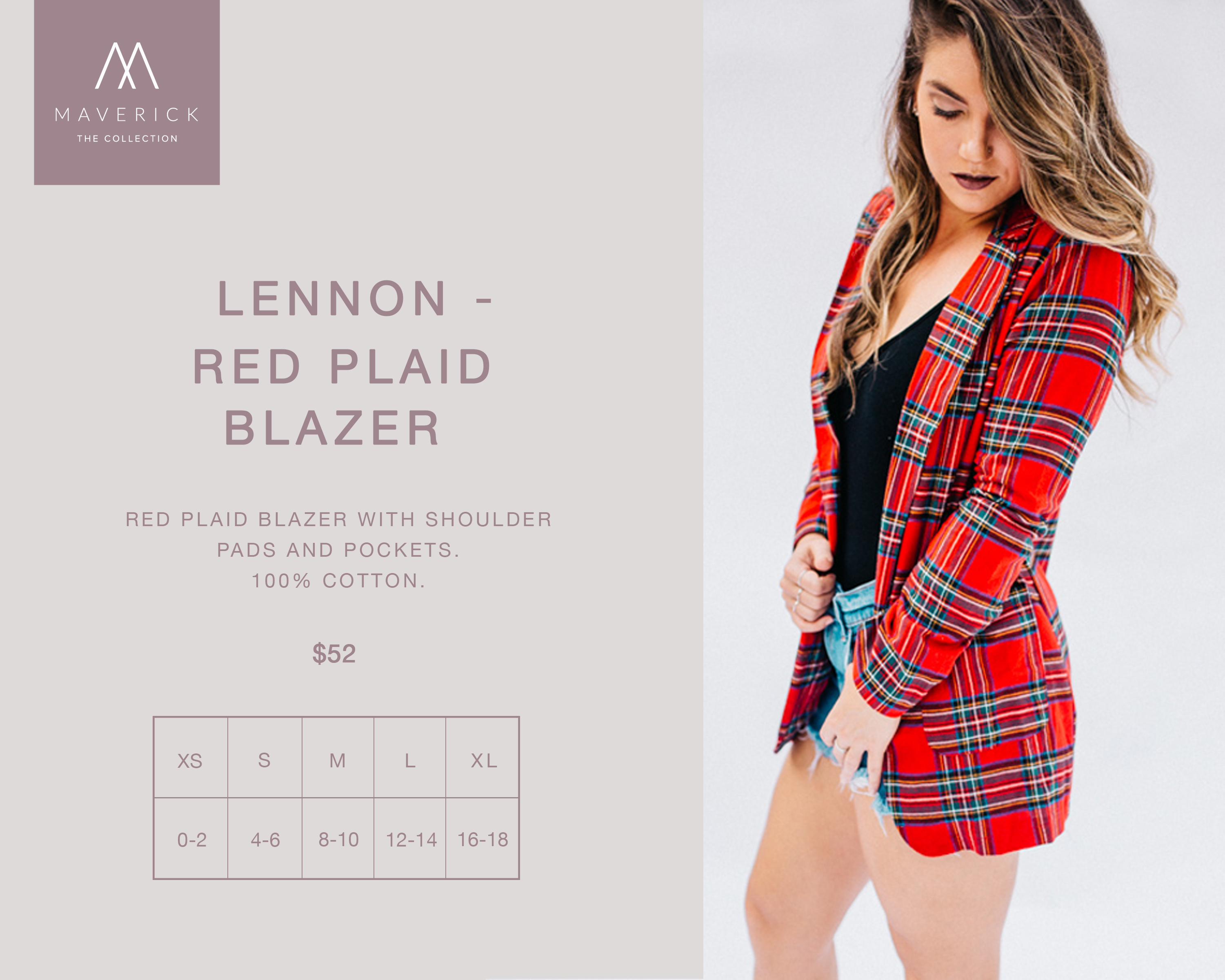 Image for RED PLAID